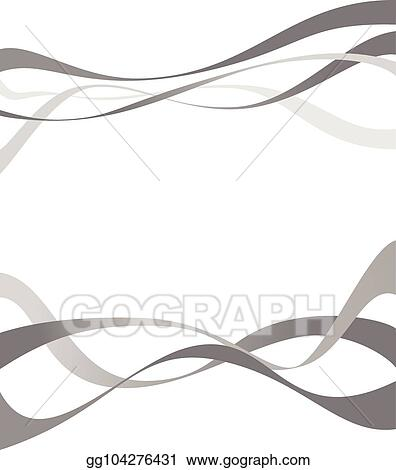Vector Stock Abstract Grey Wave Isolated On White Background
