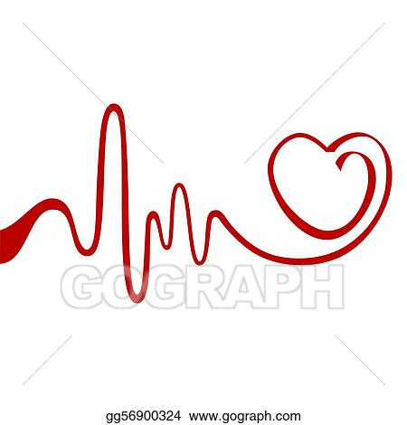 vector stock abstract heart stock clip art gg56900324 gograph rh gograph com heart ekg clipart ekg machine clipart