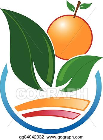 Eps Vector Abstract Icon Of Orange Fruit Stock Clipart