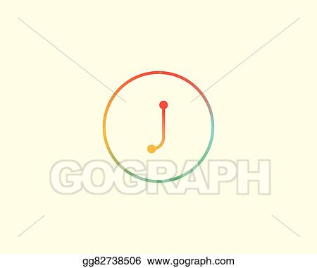 eps illustration abstract letter j logo design template colorful
