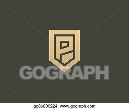 Vector stock abstract letter p shield logo design template abstract letter p shield logo design template premium nominal monogram business sign universal foundation vector icon wajeb Images