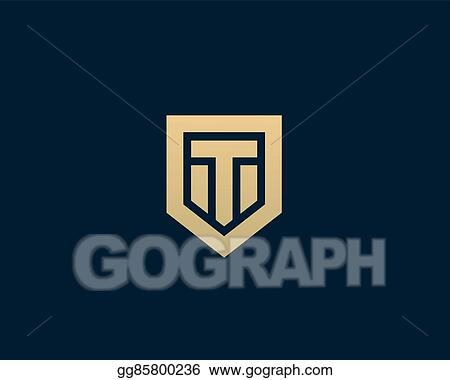 abstract letter t shield logo design template premium nominal monogram business sign universal foundation vector icon