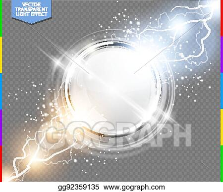 Vector Clipart - Abstract metal chrome ring power science ...