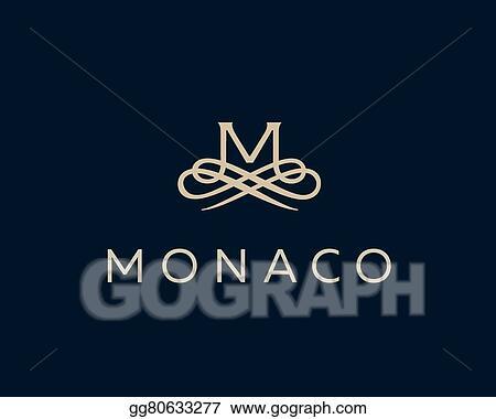 Clip Art Vector Abstract Monogram Elegant Flower Logo Premium