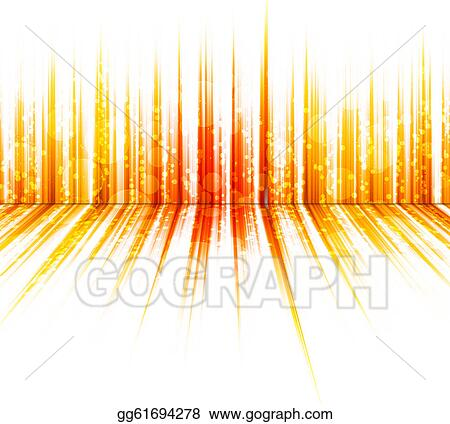 Stock Illustration Abstract Orange Colours On A White