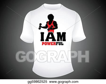 Vector Stock Abstract Powerful Tshirt Template Clipart