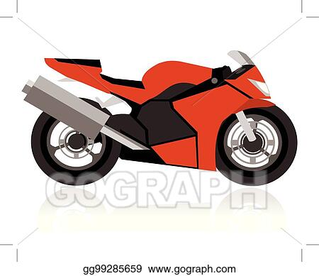 Vector Clipart Abstract Racing Motorcycle Vector Illustration