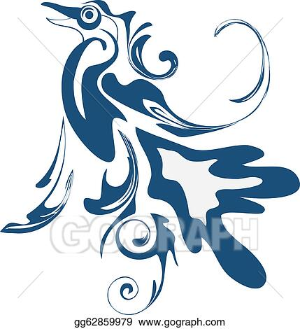 Vector Art Abstract Stylized Bird Clipart Drawing