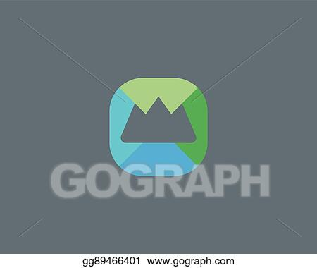 Eps Illustration Abstract Summit Mountain Logo Design Top Foundation Creative Symbol Universal Travel Vector Icon Roof Mount Camp Sign Vector Clipart Gg89466401 Gograph