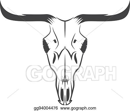 vector illustration abstract texas cow skull vector design