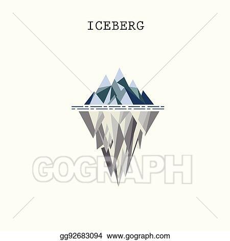vector stock abstract triangle iceberg vector logo design