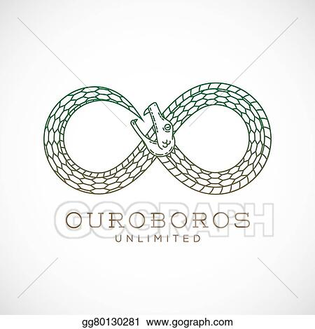 clip art vector abstract vector infinite ouroboros snake symbol
