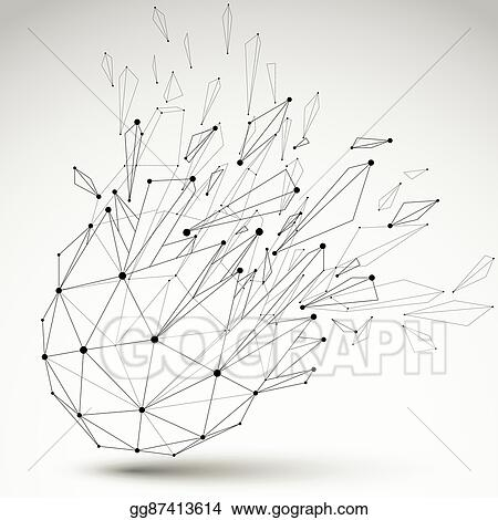 Clip Art Vector Abstract Vector Low Poly Wrecked Object