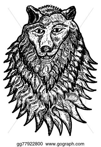 Drawing Abstract Wolf Sketch Clipart Drawing Gg77922800
