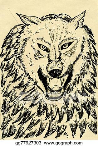 Drawing Abstract Wolf Sketch Clipart Drawing Gg77927303