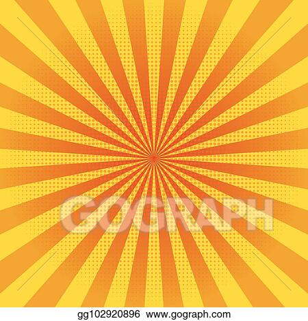 Sun rays abstract. Vector clipart yellow background