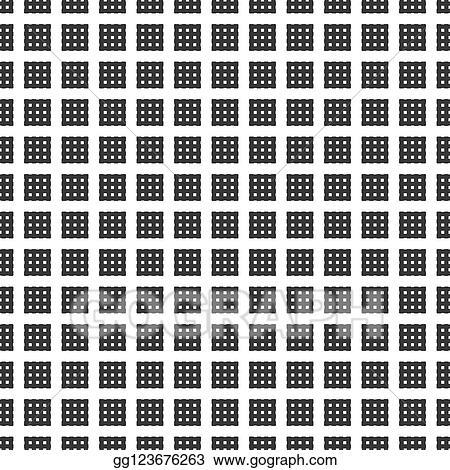 Baumwollstoff Vierecke Muster Grafisch Schwarz Weiss