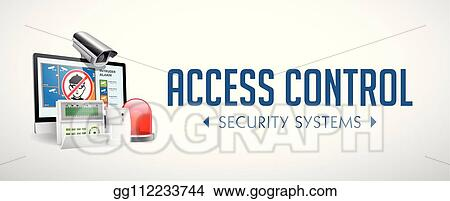 Vector Illustration Access Control System Alarm Zones Security System Concept Website Banner Eps Clipart Gg112233744 Gograph