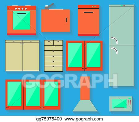 Vector Art Accessories Of Kitchen Design Clipart Drawing