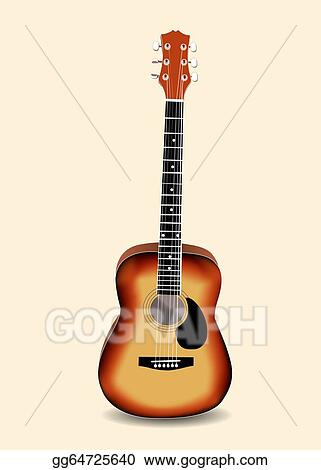 Vector Art Acoustic Guitar Vector Illustration Eps Clipart