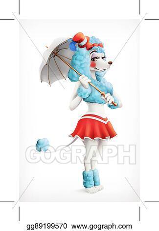 Vector Illustration Actress Circus Poodle Cartoon Character Vector Mesh Stock Clip Art Gg89199570 Gograph