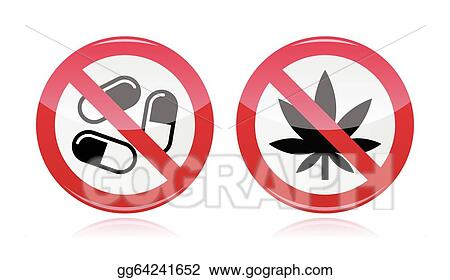 vector stock addiction problem no drugs sign clipart illustration gg64241652 gograph https www gograph com clipart license summary gg64241652