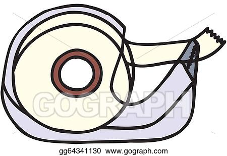 Adhesive tape. Vector clipart dispenser illustration