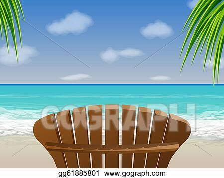 Clip Art Vector Adirondack Beach Chair Stock Eps Gg61885801