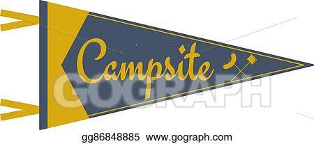 Vector Art - Adventure pennant  campsite pennant  explorer