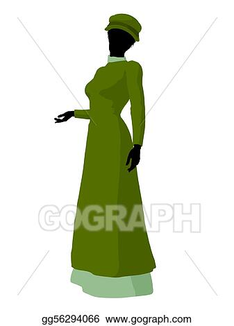 Drawing - African american victorian woman illustration silhouette ... 544c14bf4