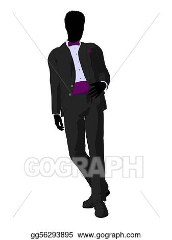 African American Wedding.Stock Illustration African American Wedding Groom In A Tuxedo