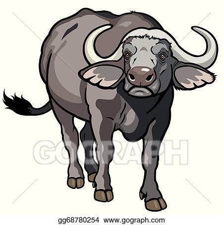 vector stock african buffalo clipart illustration gg68780254 rh gograph com clipart buffalo pictures buffalo clipart png