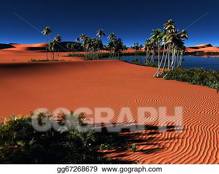 Clipart African Oasis Stock Illustration Gg67268679 Gograph