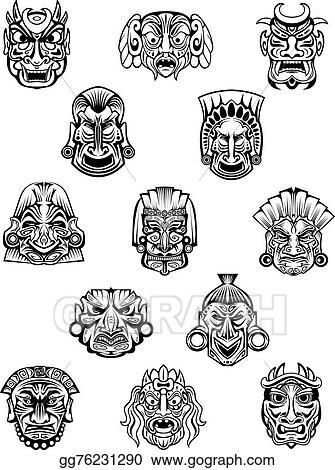 Art Tribal Mask Design