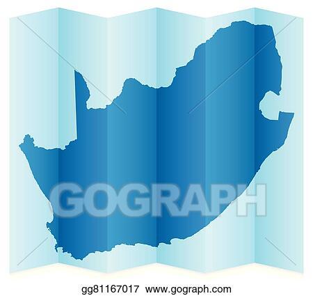 Carte Afrique Vectorielle.Illustration Vectorielle Afrique Sud Carte Clipart Eps