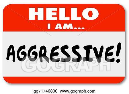 stock illustrations aggressive hello i am nametag sticker stock