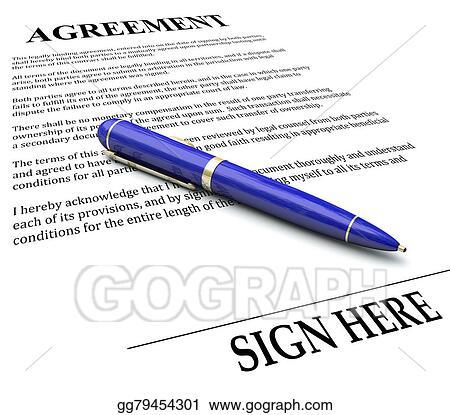 Clip Art Agreement Pen Signing Signature Line Legal Document - Signing legal documents