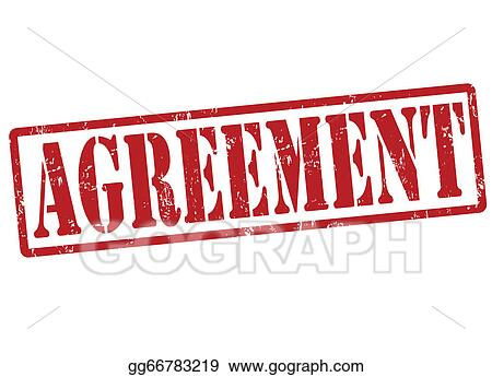 Vector Clipart Agreement Stamp Vector Illustration Gg66783219