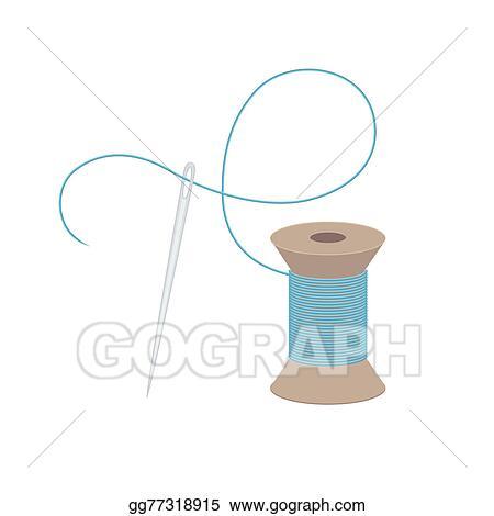 Illustration Commerciale Aiguille Fil Clip Art Gg77318915