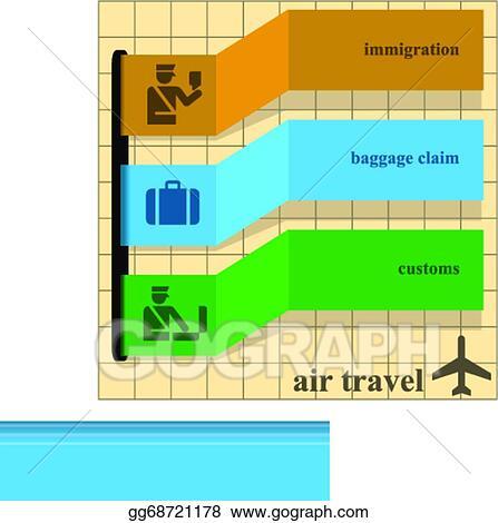 Vector Clipart Air Travel Instructions Vector Illustration