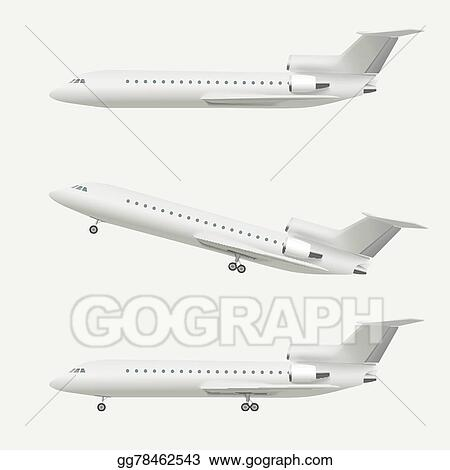 flying airplane drawing realistic