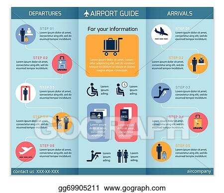 Clip Art Vector Airport Business Infographic Brochure Stock Eps