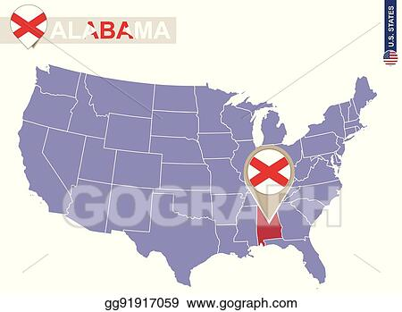 EPS Vector - Alabama state on usa map. alabama flag and map ... on map of nevada usa, map of georgia usa, map of st. vincent and the grenadines, map of america usa, map of san antonio usa, map of northeastern usa, map of northwestern usa, map of midwest states usa, map of southern usa, map of the south usa, map of carolinas usa, map delaware usa, map arkansas usa, map of washington dc usa, map of richmond usa, map of mexico usa, map of southeast usa, map of boston usa, colorado map usa, map of pacific northwest usa,