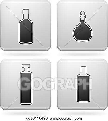 Vector Stock Alcohol Bottles Clipart Illustration Gg56110496