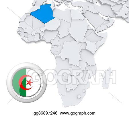 Stock Photograph Algeria On Africa Map Stock Image Gg86897246