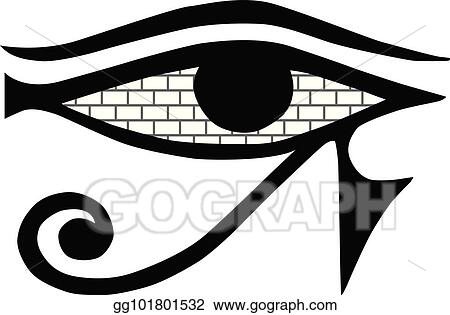 Vector Stock All Seeing Eye Mason Sign On A White Background