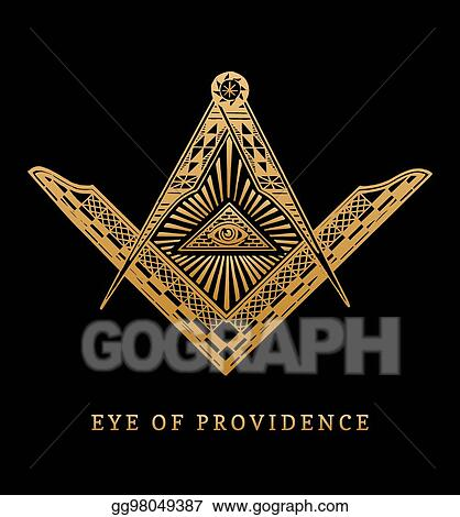 Eps Vector All Seeing Eye Of Providence Masonic Square And