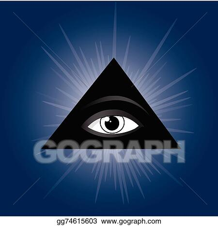 Vector Stock All Seeing Eye Of Providence Masonic Symbol Clipart