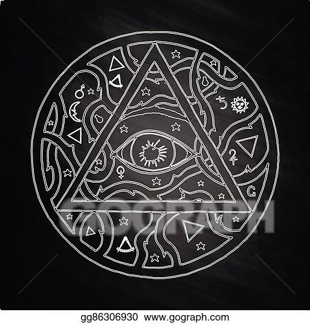 1b443ca5062d5 Vector Stock - All seeing eye pyramid symbol in tattoo design on ...