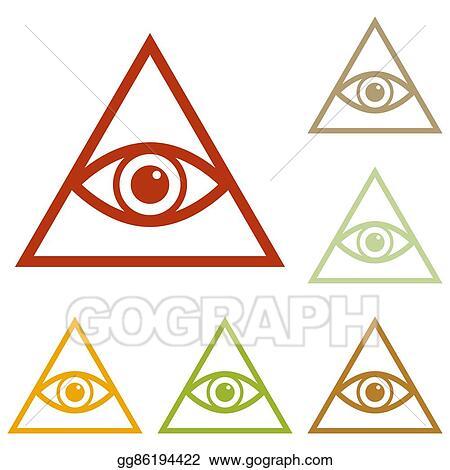 Vector Stock All Seeing Eye Pyramid Symbol Stock Clip Art